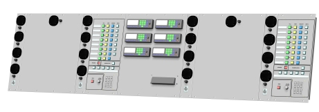 Operator panel, Gothenburg fire defence command vehicle