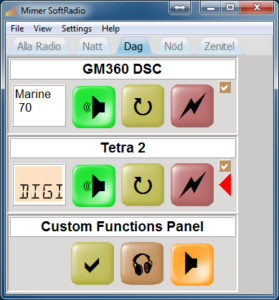 Showing the Custom Function Panel