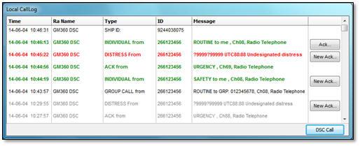 Local log of DSC calls