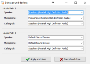 Select Sound Devices