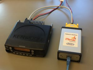 Kenwood radio connected to a Network Interface