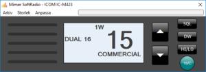 Virtual Control Head Icom IC-M423