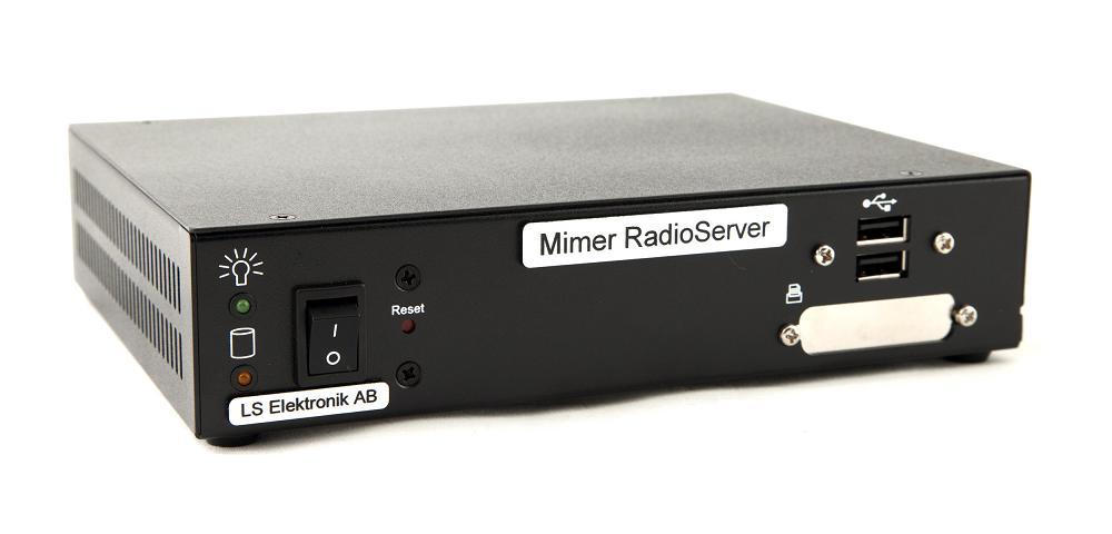 Mimer RadioServer, front side