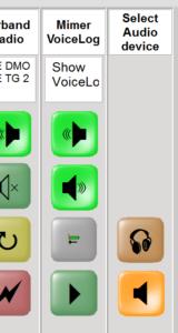Select Audio Device keys active