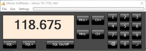 Virtual Control Head, Jotron Airband Radio