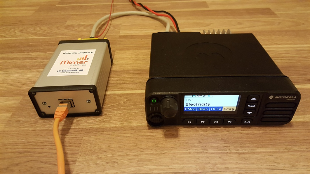 Motorola MotoTrbo radio with Network Interface