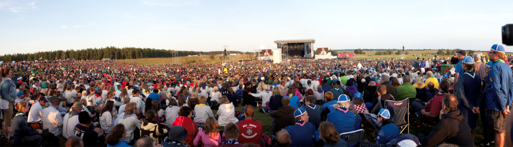 Gathering at the World Scout Jamboree