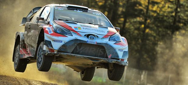 In action at Rally Wales