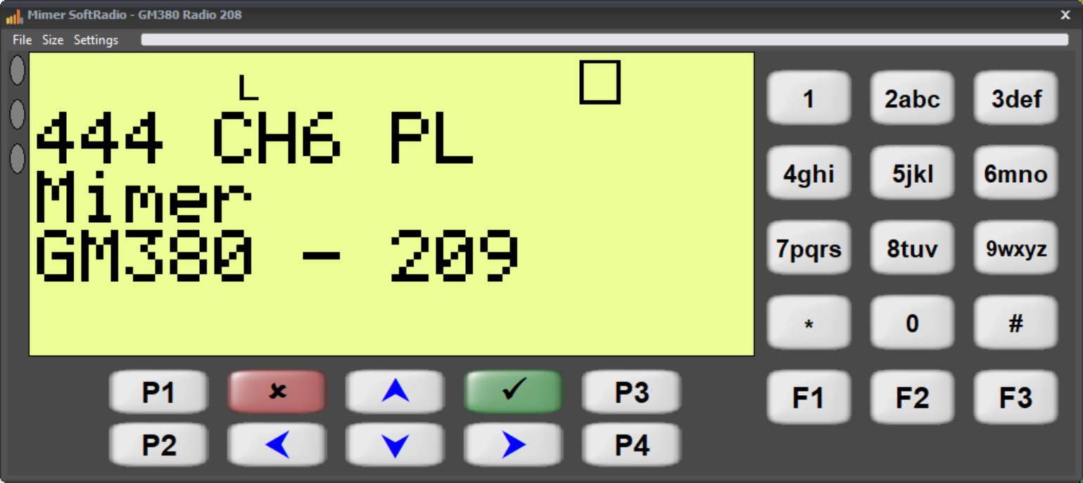 Virtual Control Head for GM380