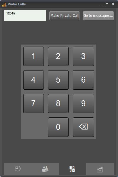 RadioCalls - keypad