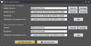 Expanded Select Audio Devices