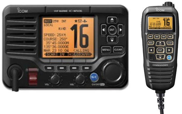 Icom IC-M506 with HM-195B