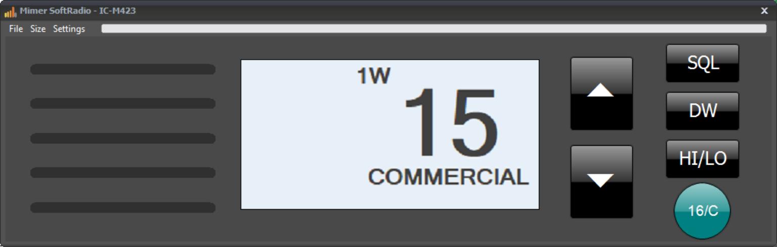 Virtual Control Head, Icom IC-M423