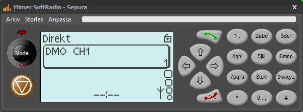 Virtuellt kontrollhuvud för Sepura