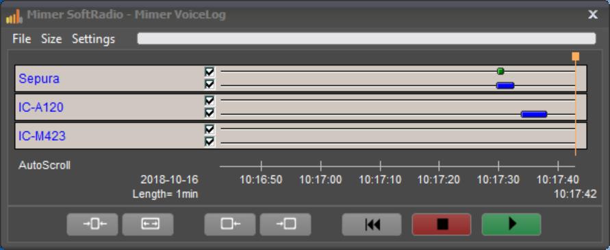 Mimer VoiceLog, dispatcher replay window