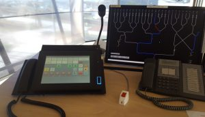 Touch Screen dispatch console for a shunting tower