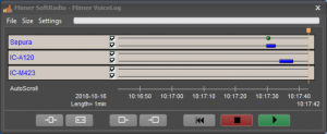 Mimer VoiceLog dispatcher control panel