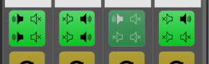 Using the Quad option to select between four speakers