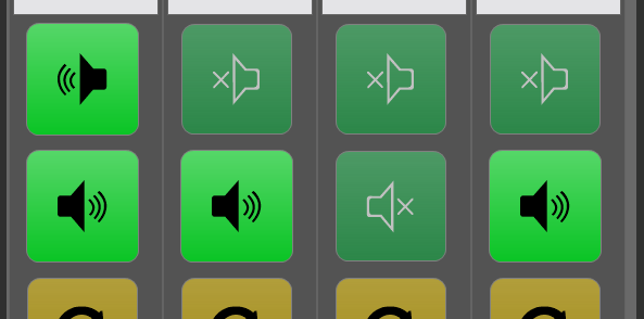 Setting with two speaker buttons per device