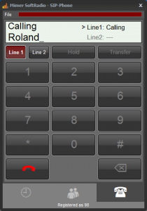 Number pad for phone calls