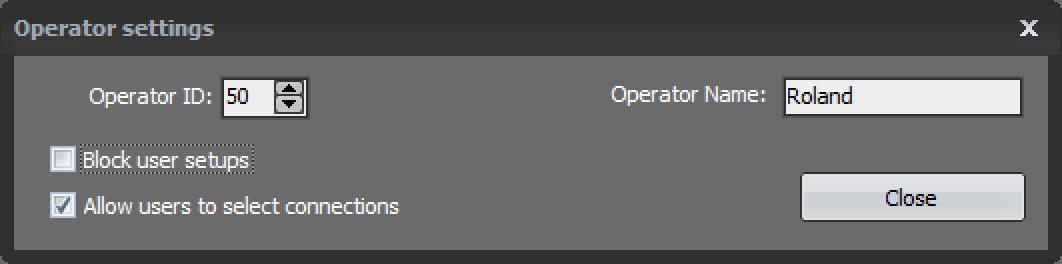 Operator Settings
