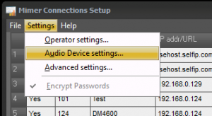 Audio Device Settings