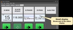 Small radio display in SoftRadio