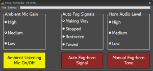 PA and Fog Horn panel